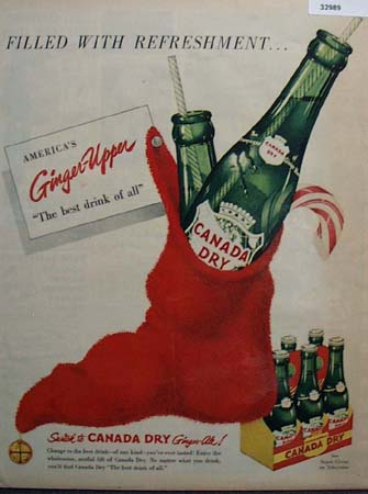 Canada Dry Ginger Upper 1951 Ad