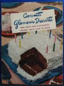 Coconut Glamour Desserts Cookbook 1949