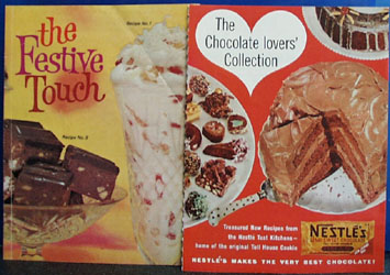 4 Nestles Recipes Cookbooks 1959 to 1962