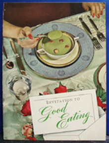 Invitation To Good Eating Cookbook 1942