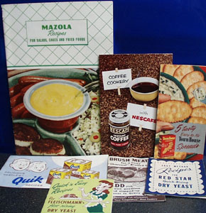 7 Different Cookbooklets 20th Century
