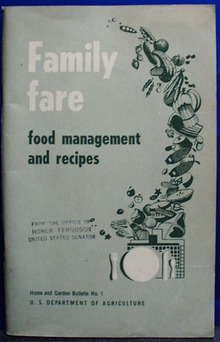 Family Fare Food Management Cookbook 1950