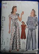 Simplicity Pattern No 3422 Girls PJs Size 16