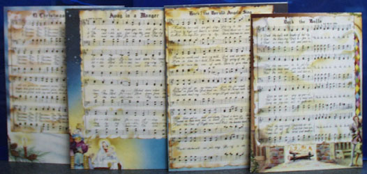 4 Different Cardboard Christmas Carols No Date
