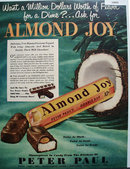 Peter Paul Inc. Almond Joy Candy 1950 Ad