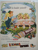 Necco Wafers Twins 1951 Ad