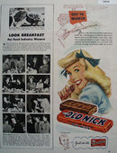 Schutters Candy Co. Old Nick Bar 1948 Ad