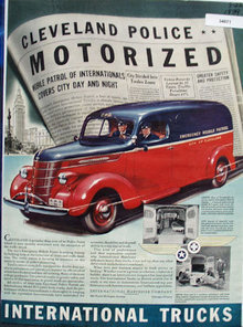 International Trucks Cleveland Police 1939 Ad