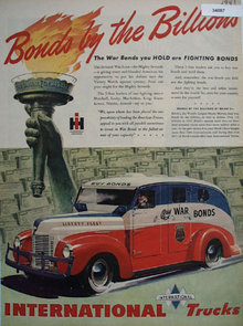 International Trucks War bonds 1945 Ad