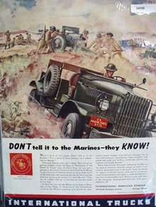 International Trucks U.S. Marine 1941 Ad