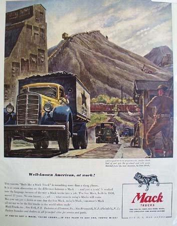 Mack Trucks American At Work 1942 Ad