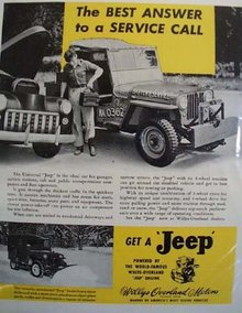 Willys Overland Motors Jeep 1940 Ad