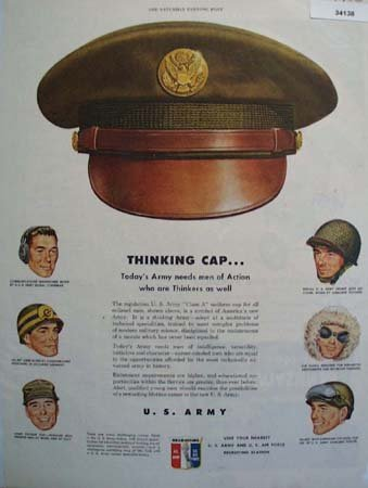 U.S, Army Thinking Cap 1950 Ad