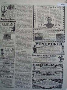 Military Academy  1929 Ads