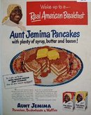 Aunt Jemima Pancakes and Waffles 1950 Ad