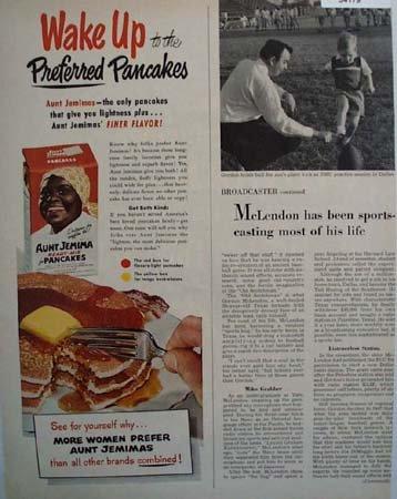 Aunt Jemima Ready Mix Pancakes 1951 Ad