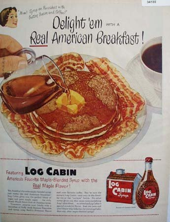 Towles Log Cabin Syrup 1951 Ad