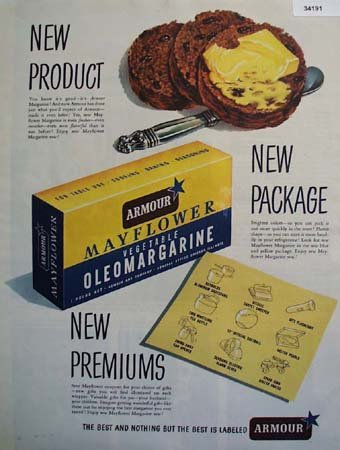 Armour Mayflower Oleomargarine 1949 Ad