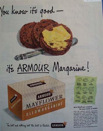 Armour Margarine Raisin Cookies 1949 Ad