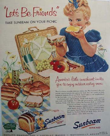 Sunbeam Bread Miss Sunbeam 1955 Ad
