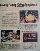 Heinz 57 Varieties Spaghetti 1951 Ad