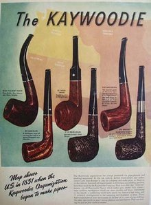 Kaywoodie Pipe Family 1947 Ad