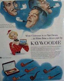 Kaywoodie White Briar Pipe 1953 Ad