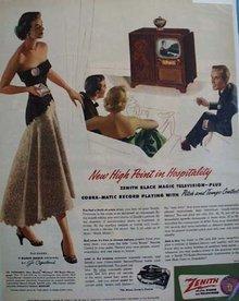 Zenith Television Jo Copeland 1951 Ad