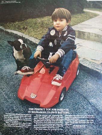 Eldon Industries Poweride battery Toy Car 1970 Ad