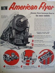 American Flyer Realistic Toy Trains 1953 Ad