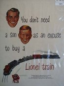 Lionel Train Father and Son 1949 Ad