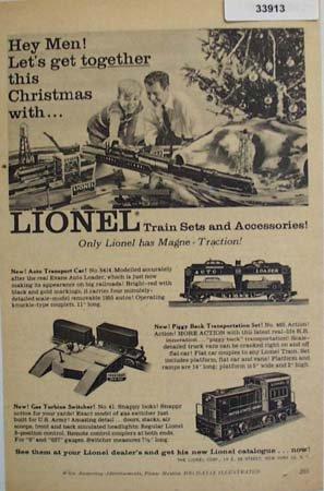 Lionel Train Sets and Accessories 1955 Ad