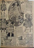 Montgomery Ward and Co. Dolls 1925 Ad
