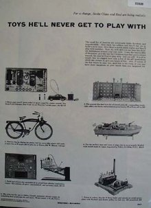 Lionel Miniature electric trains and Toys 1953 Ad