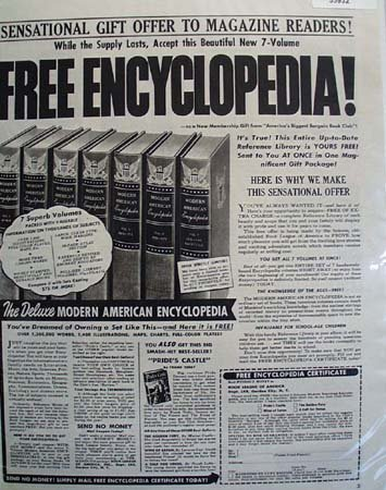 Book League of America Encyclopedia 1949 Ad