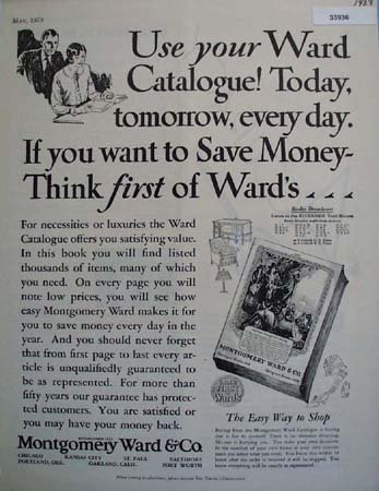 Montgomery Ward and Co. Wards First 1928 Ad