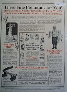 Youths Companion Famous Americans 1928 Ad