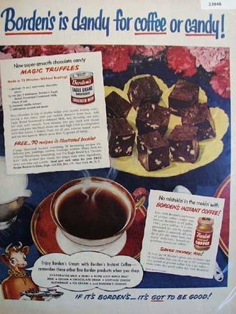 Bordens Eagle Brand Condensed Milk 1951 Ad