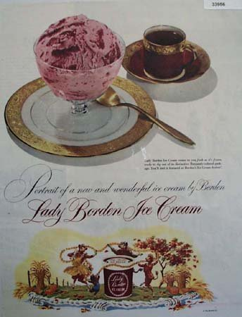 Lady Borden Ice Cream 1949 Ad