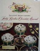 Lady Borden Chocolate Almond Ice Cream 1950 Ad