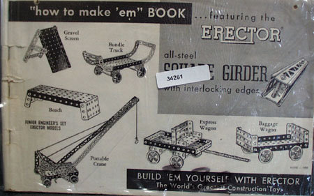 How To Make 'em Book featuring the Erector all-steel
