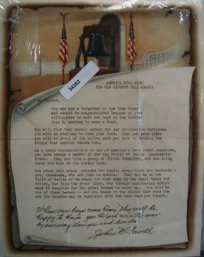 This is a letter type written to Victor from John N. Powell