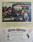 Old Crow Whiskey Iron Horse 1951 Ad