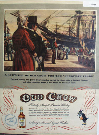 Old Crow European Trade 1951 Ad