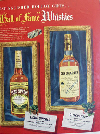 Hall Of Fame Whiskeys 1950 Ad