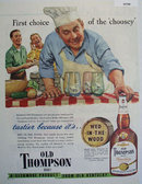 Old Thompson Wed In The Wood 1949 Ad