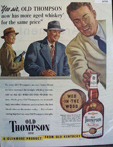 Old Thompson Blended Whiskey 1949 Ad