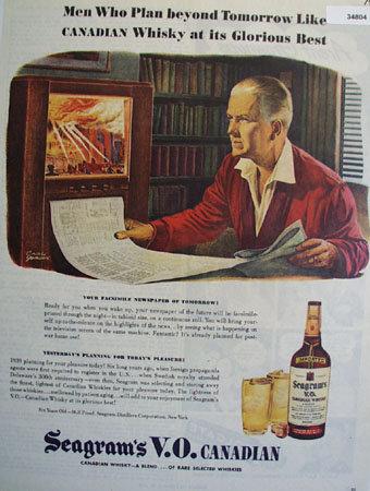 Seagrams V.O. Canadian Whiskies 1945 Ad