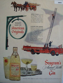 Seagrams Ancient Bottle Gin 1950 Ad