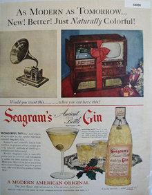 Segrams Modern American Original 1951 Ad